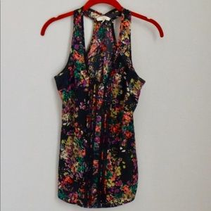 Summer Floral Razorback Tank Top - Size S